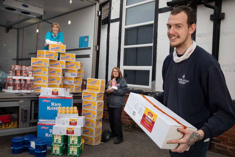 Business makes generous food donation to Cheshire Food Hub